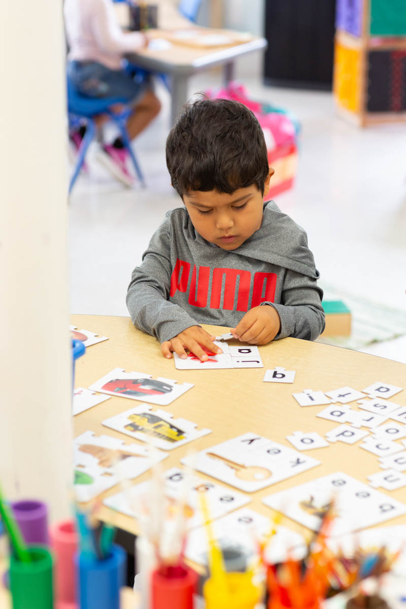 Children explore sounds, writing and reading as we focus on a letter of the week.